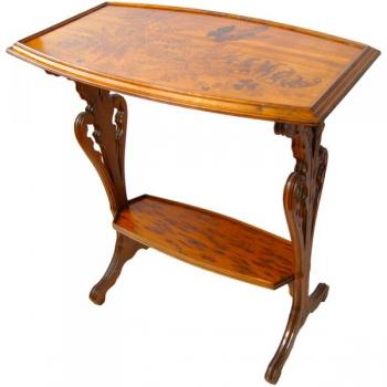 Small Table - wood, veneer - Gallé - 1900