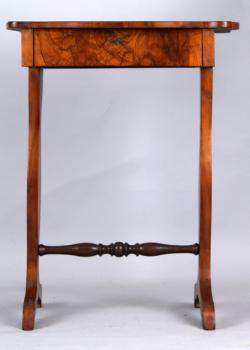 Sewing Table - walnut wood - 1900