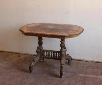 Small Table - solid wood, stained veneer - 1880