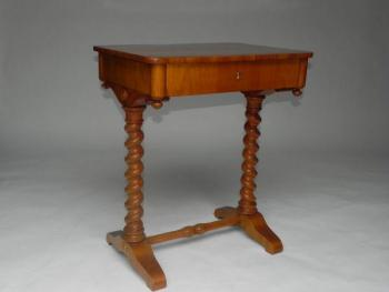 Sewing Table - solid wood, cherry veneer - 1840